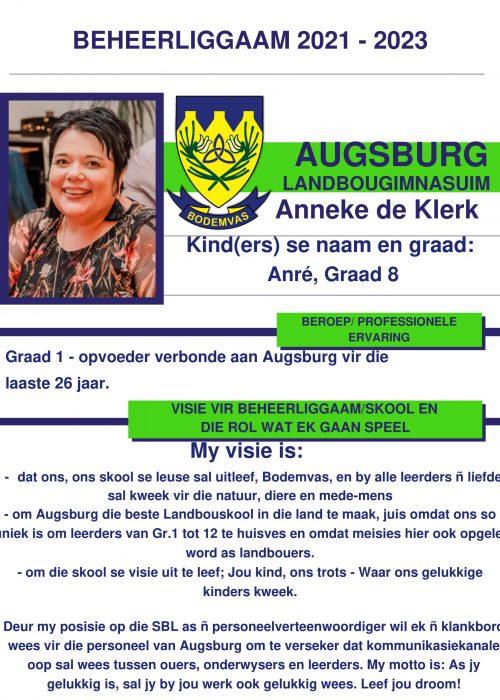 Anneke de Klerk ALG-1