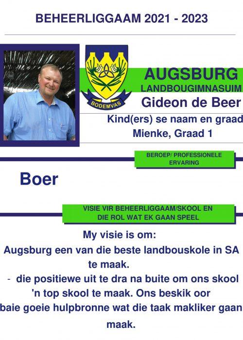 Gideon de Beer ALG-1